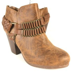 JustFab faux leather boots
